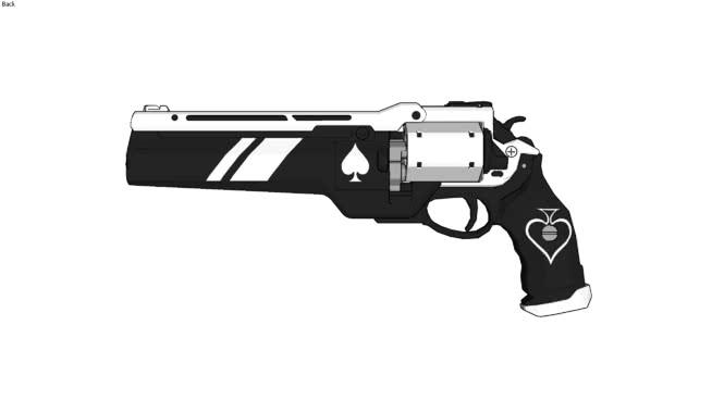 Ace of Spades Destiny Hand Cannon] | 3D Warehouse