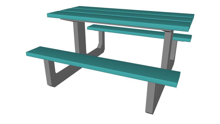 Plastic Picnic Table Detailed 3d Warehouse