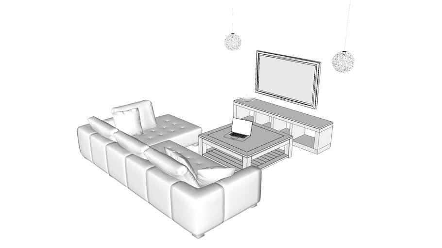 Living room set up - default material only