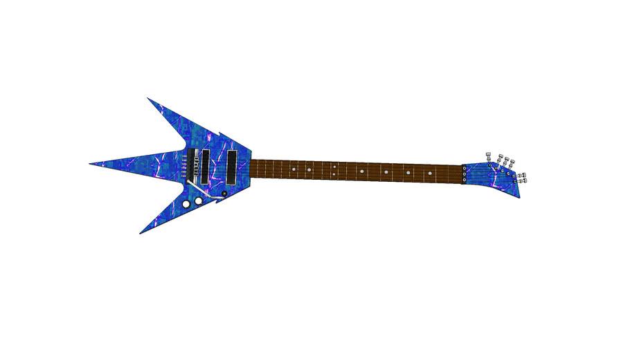 blue lightning guitar