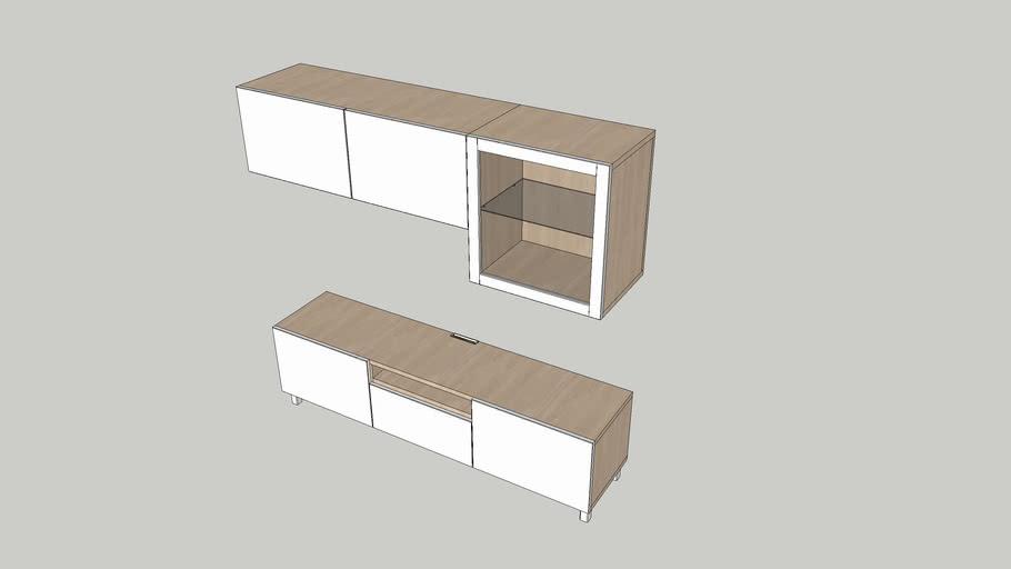 Ikea Besta Tv Unit 180x40x40 3d Warehouse