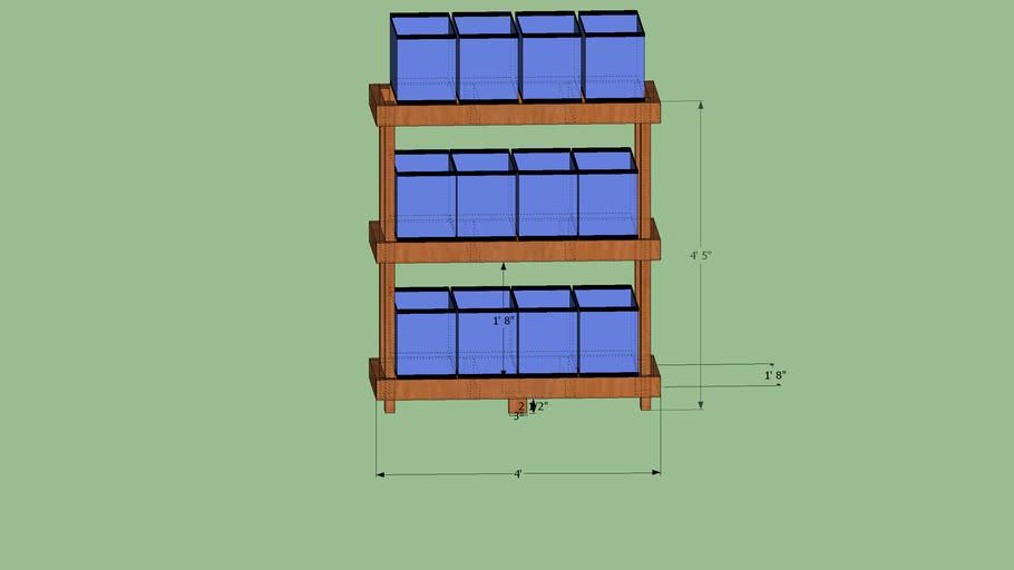 10 gallon fish tank breeder stand