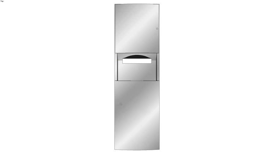 Recessed Paper Towel Dispenser-Waste Receptacle