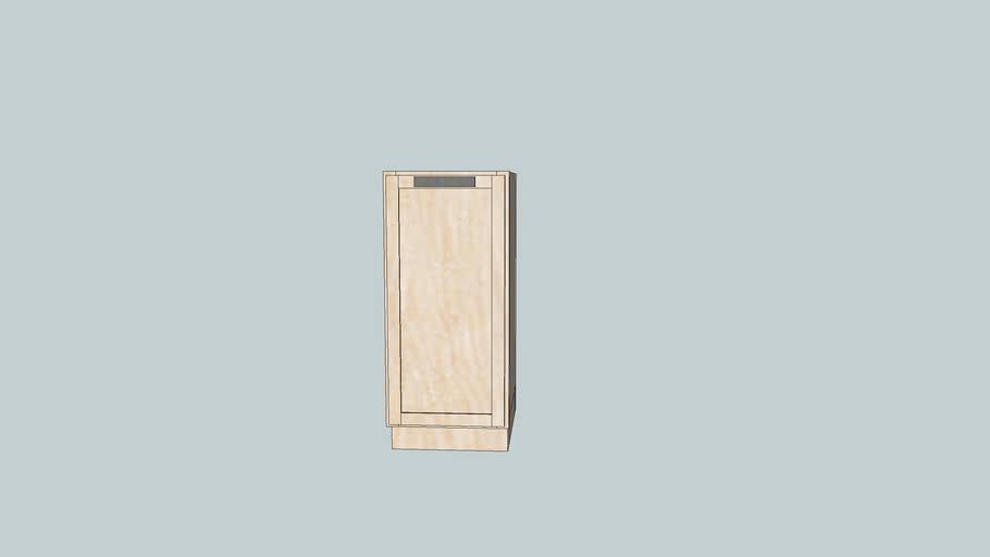 "Kitchen Cabinet Base - 15"" Pullout Trash Drawer Full Overlay Face Frame"