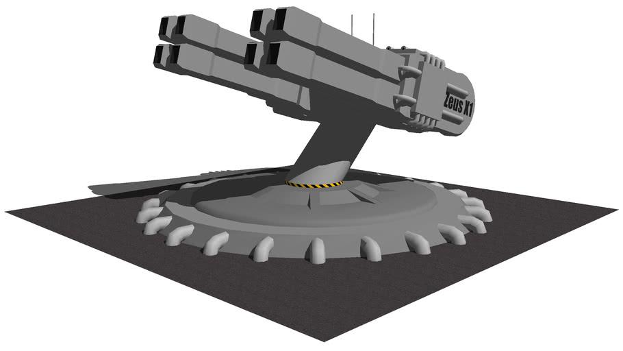 Zeus X1 (Anti Aircraft Gauss Cannon)