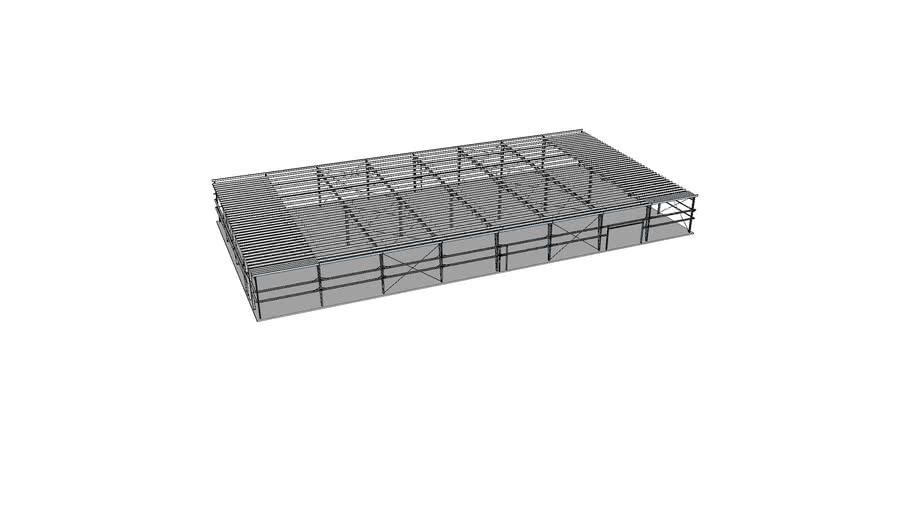 Large steel building frame