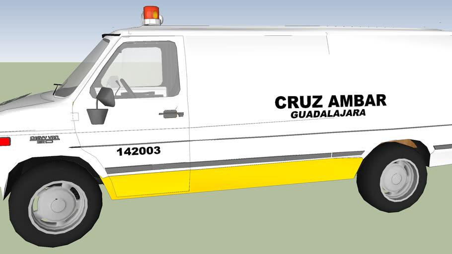ambulancia de cruz ambar de la ciudad de guadalajara jalisco