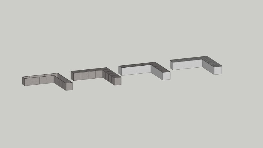 24' L Angled Outdoor Kitchen Island kit by Stone Age Manufacturing.