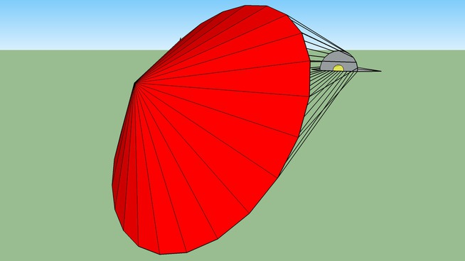 plane with parachute