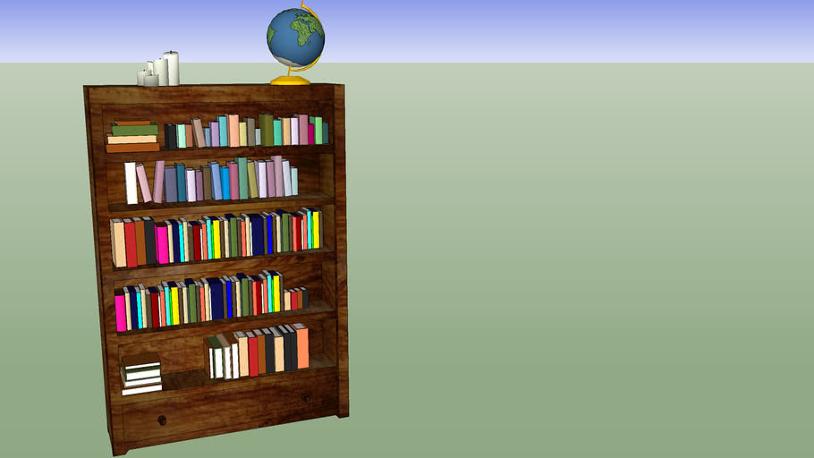 A wooden bookshelf