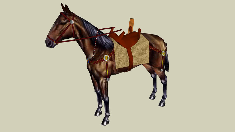 The Roman Army - Cavalry Mount  w/ Saddle and Harness