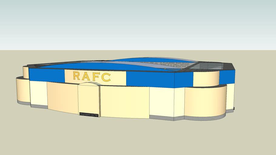 A fantasy football stadium