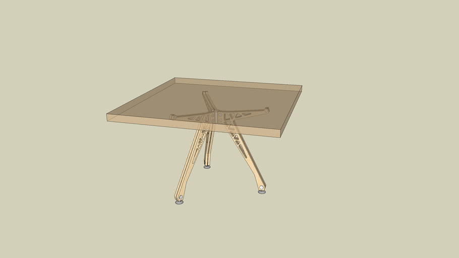 3-legged square-top table