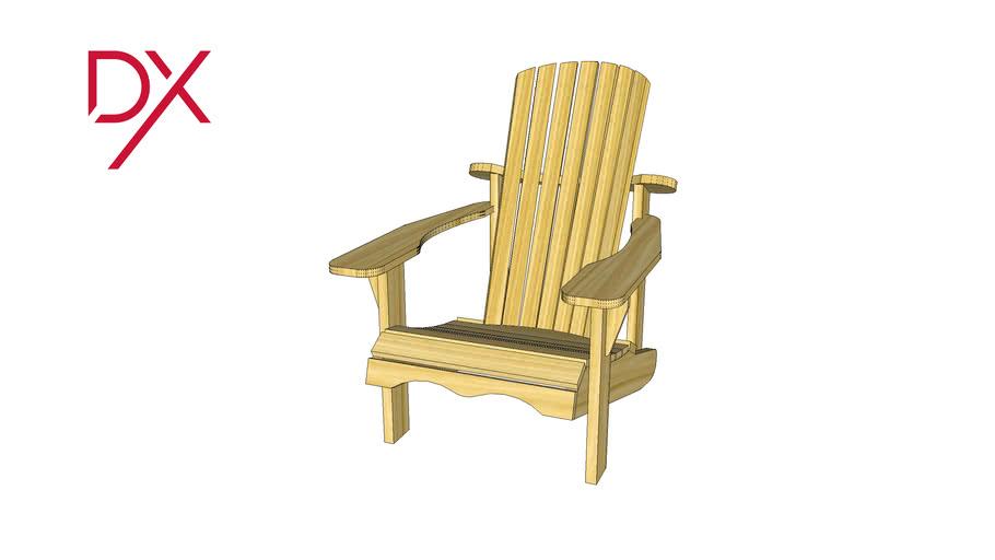 Chaise Adirondack -bois naturel
