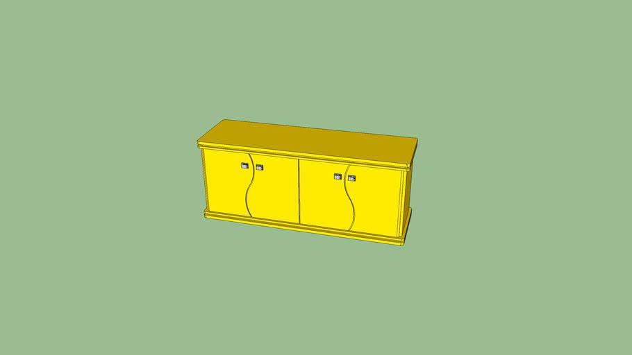 balcão laca amarela