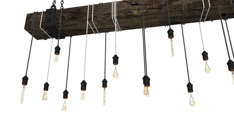 木质装饰吊灯