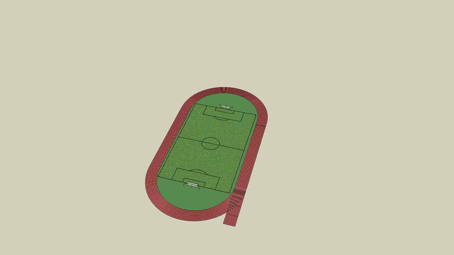 cancha de futbol con pista olimpica