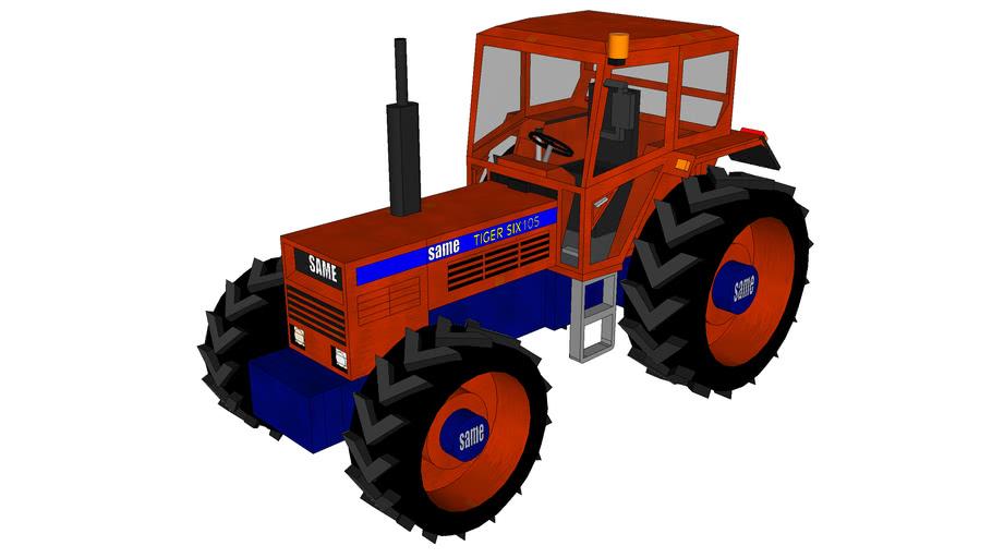 tracteur same tiger six 105
