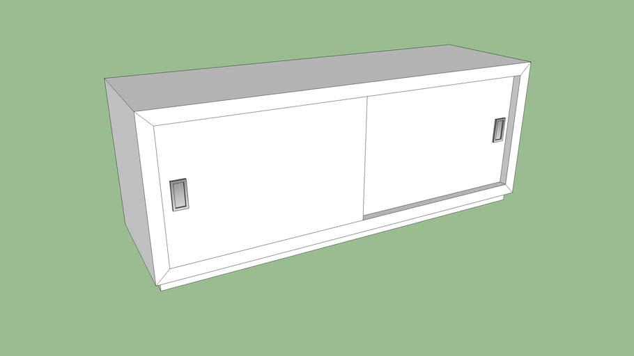 C+B_Aspect Shelf with Sliding Doors