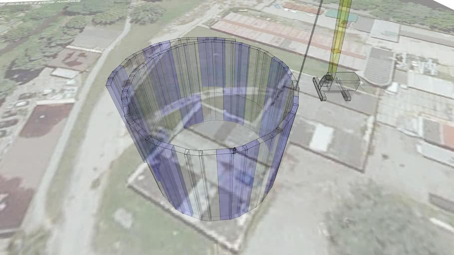Model založeni na podzemních stěnách