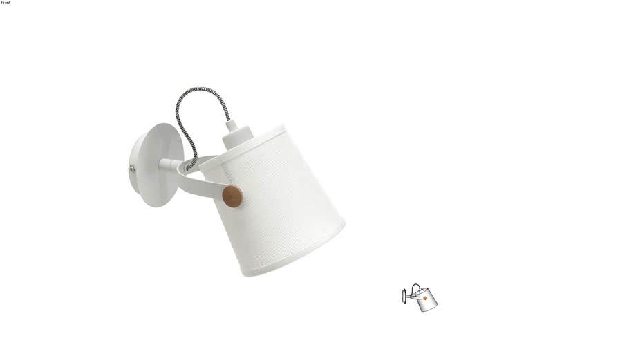 Arandela Nordica (Metal Branco) #4924