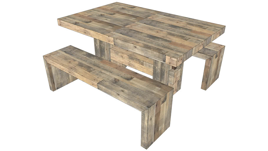 West Elm Emmerson Reclaimed Wood Dining Table 3d Warehouse