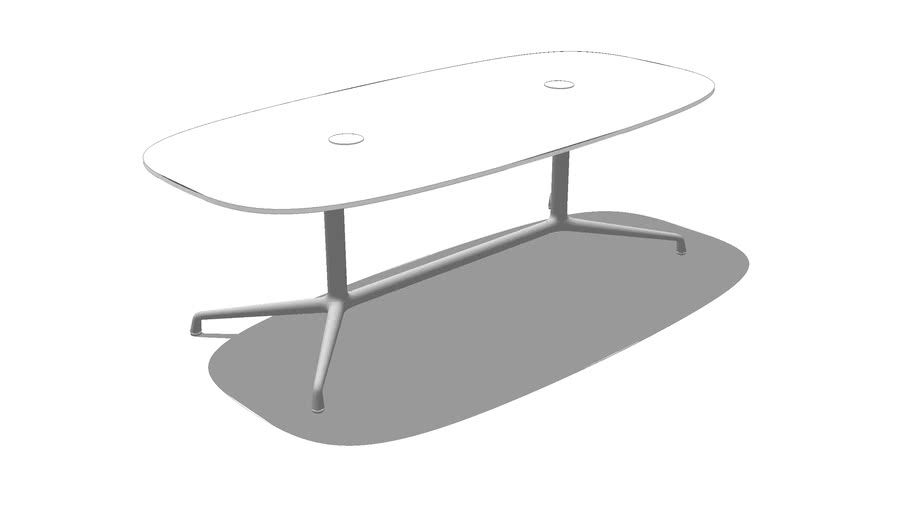 Coalesse, SW_1, Low Conference Table, Super Elliptical, Laminate, 84