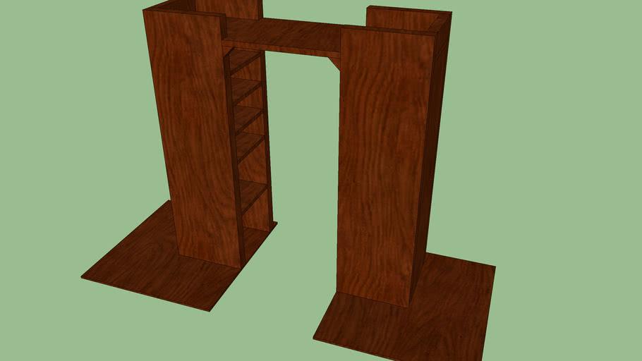 Shelf with doorway