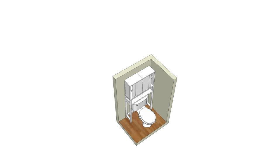 estante banheiro sob sanitario