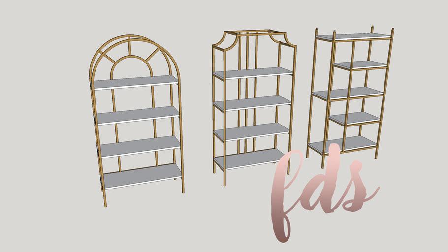 BOOK SHELVES GOLD #bookshelves #shelves #furniture #interiordesain #GOLD_FDS_SV0A1_20