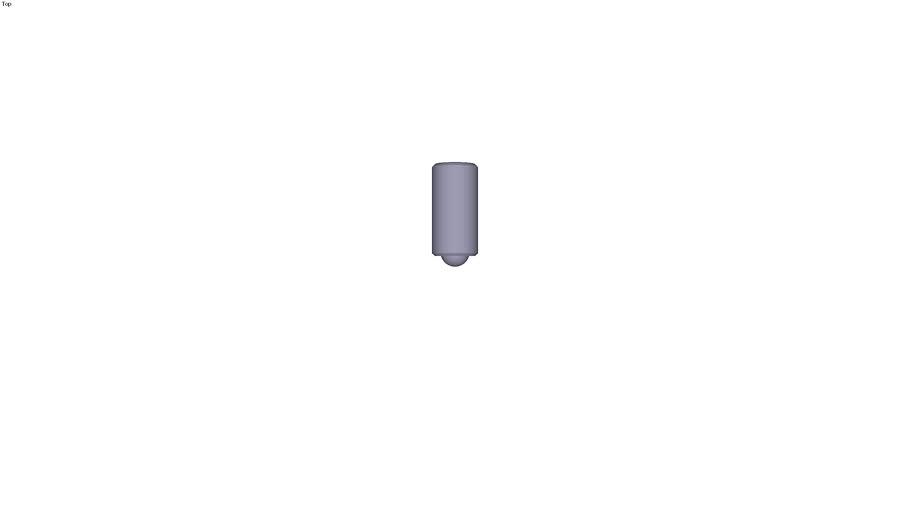 Spring plunger hex socket - stainless steel - M24