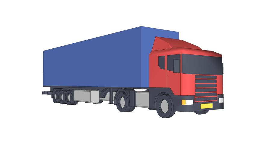 vrachtwagen + oplegger
