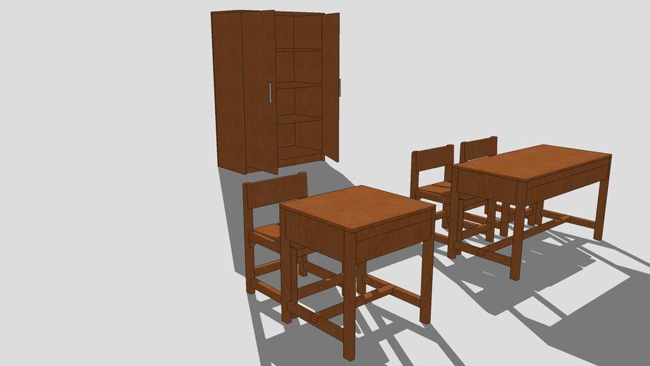 Kursi, Meja dan Lemari Kelas Untuk SD