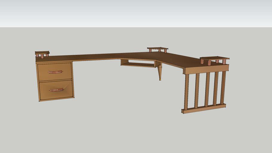 A Simple Corner Style Computer Desk