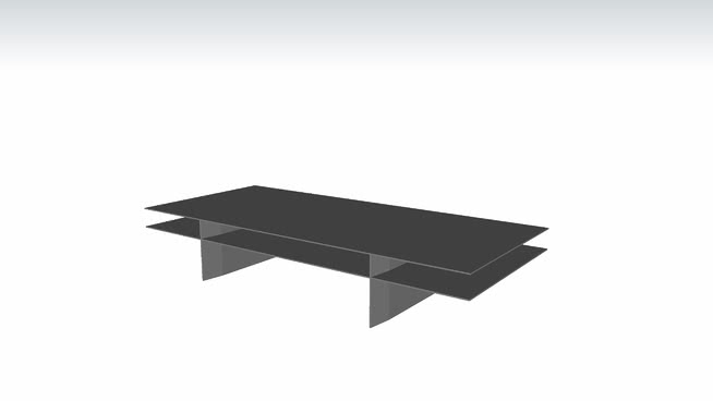 Kensington Coffee Table in Acier and Gray by Modloft