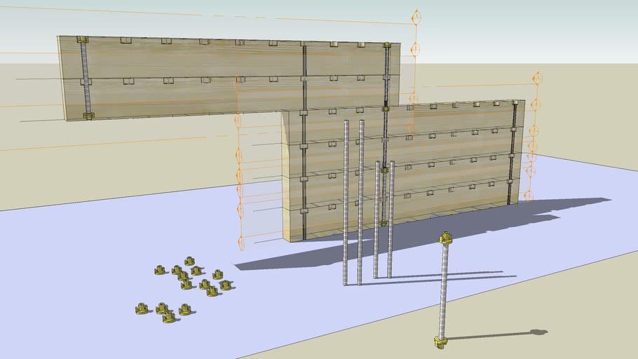 Tornillos para montar pared Ecoles System