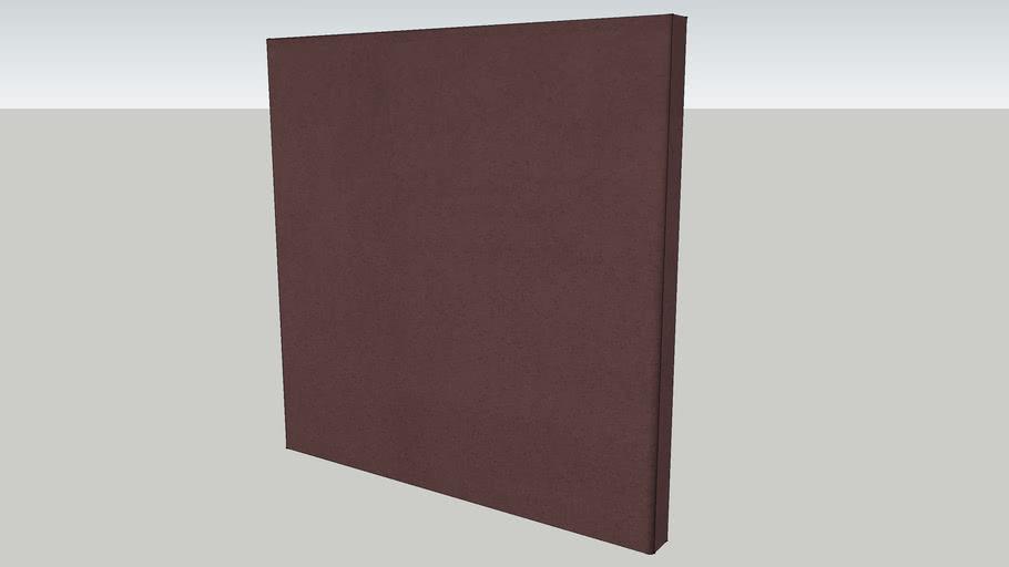 "echoshield™ Standard 2' x 2' x 2"" Acoustic Panel - Chocolate Microsuede"