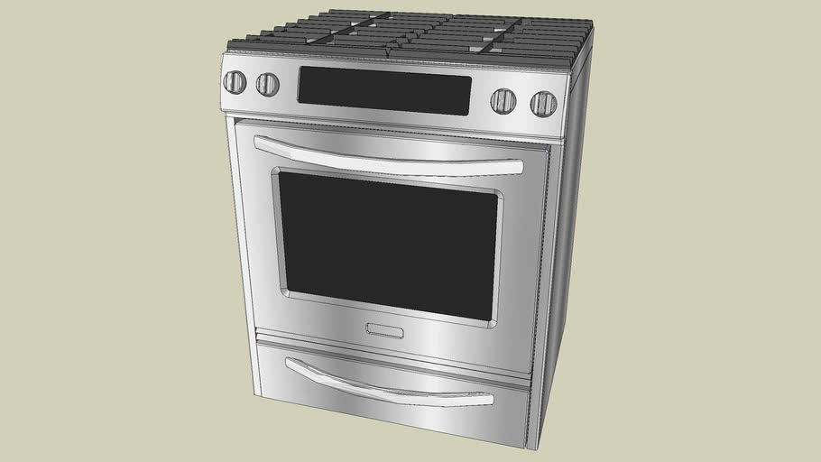 KGSS907S KitchenAid True Convection Oven, Frameless Cooktop, Full-Width Cast-Iron Grates