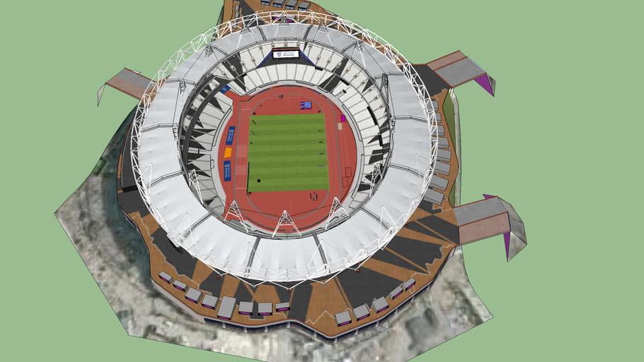London Olympic Stadium during the 2013 Sainsbury's Anniversary Games