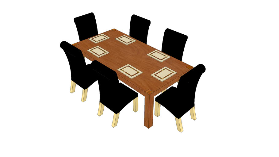 Dining room Table, Chairs and Placemats