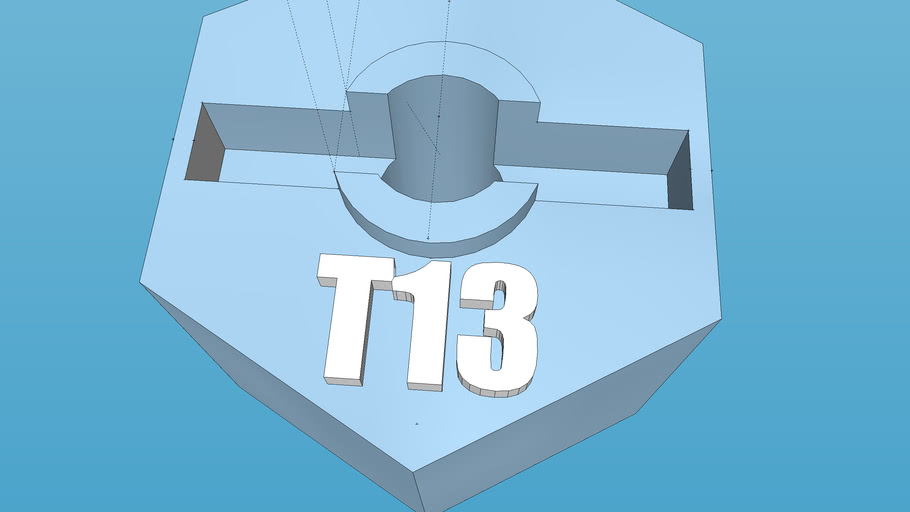 12 mm hex flat 8.5 mm