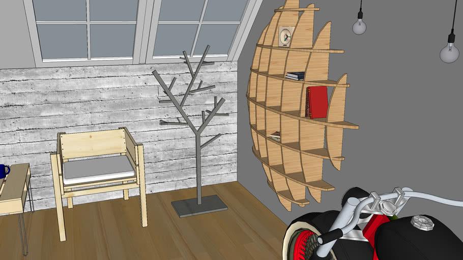 Shandzmc Interior Design BeeHive Shelving