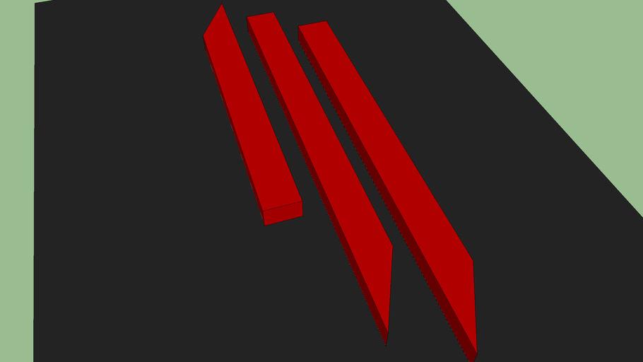 3D Skrillex Logo