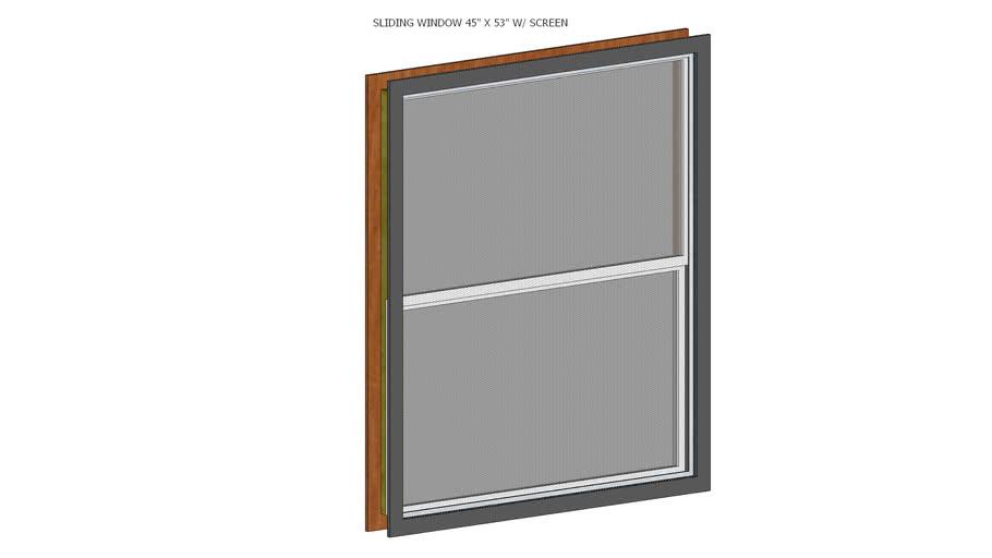 45 X 53 sliding window W/ screen