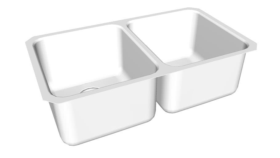"K-3171-HCF Undertone(R) Preserve(R) Preserve(TM) 31-1/2"" x 18"" x 9-3/4"" under-mount double-equal bowl kitchen sink"