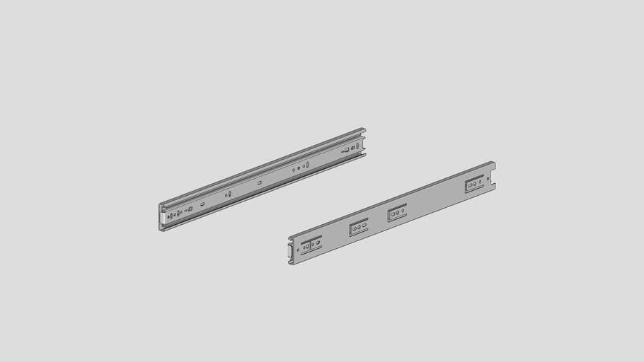 FL-COU20-100LBS : 20'' pair drawer slides steel zn