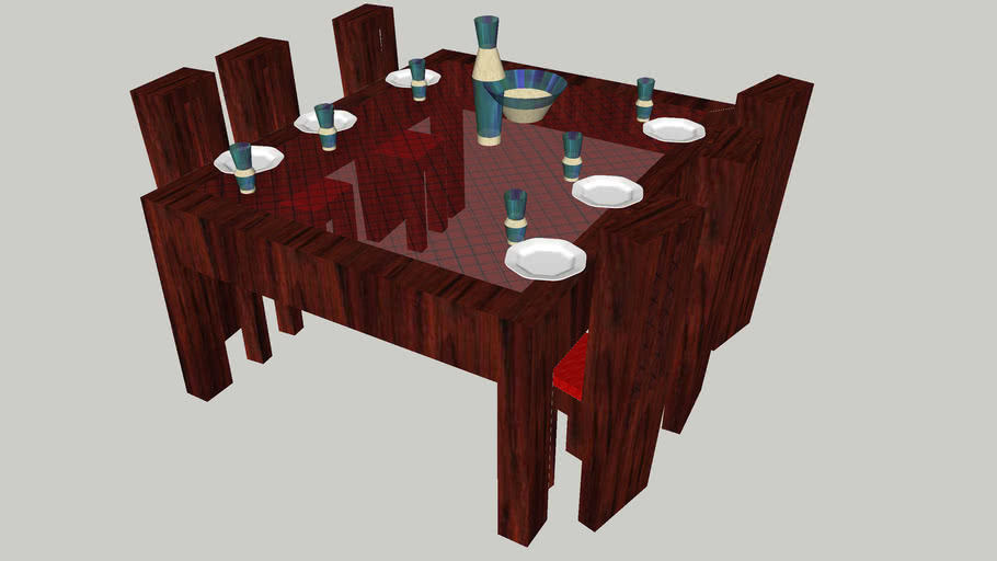 EAH. . . A table and chairs in massive red oak
