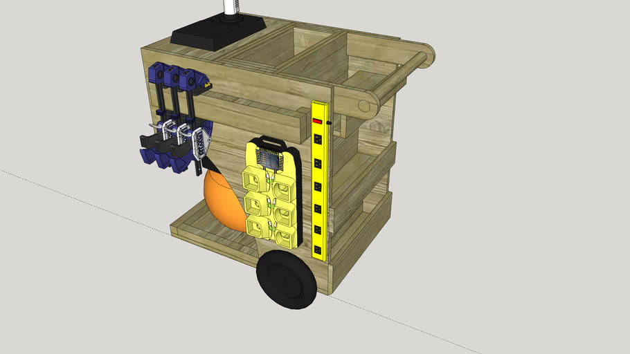 Air Compressor Cart with storage