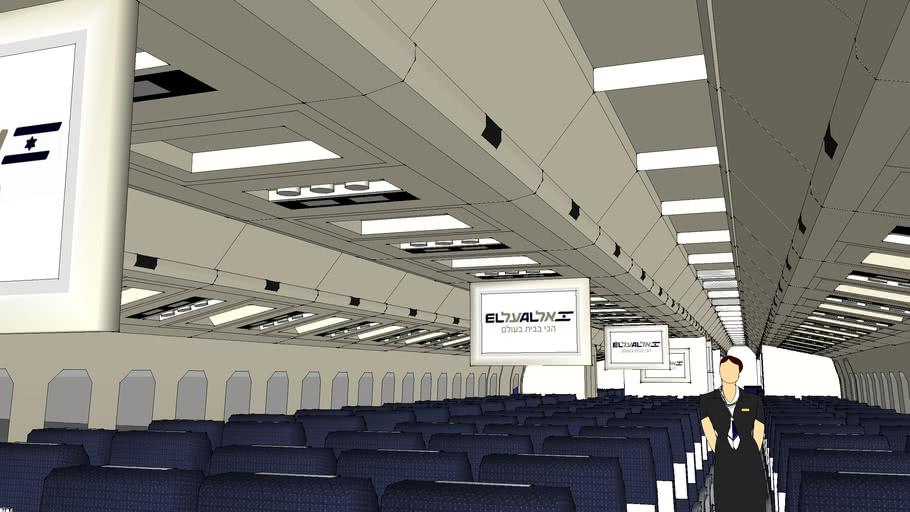 EL AL Israel Airlines 767-200 Cabin (Current- 4X-EAE)