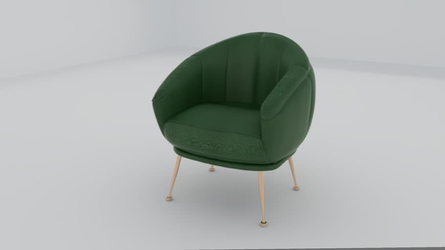 Armchair+Stainless Leg